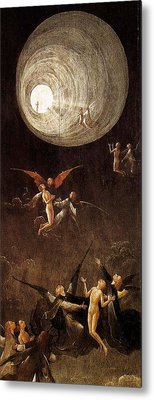 Visions Of The Hereafter, Ascent Of The Blessed Metal Print by Hieronymus Bosch