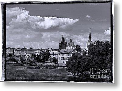 Vltava River, Smetana Museum And Novotneho Lavka In Background Metal Print by Doc Braham