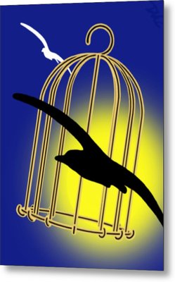 The Cage Metal Print
