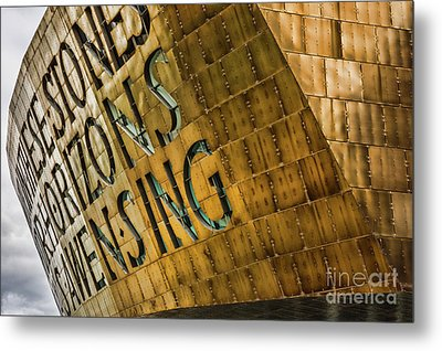 Wales Millennium Centre Metal Print by Steve Purnell