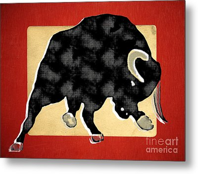 Wall Street Bull Market Series 2 Metal Print by Edward Fielding