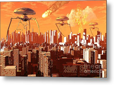 War Of The Worlds Metal Print