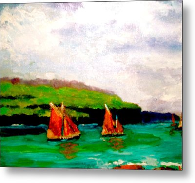 Warm Afternoon Sailing Metal Print