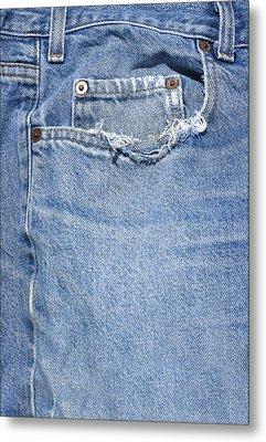Worn Jeans Metal Print by George Robinson