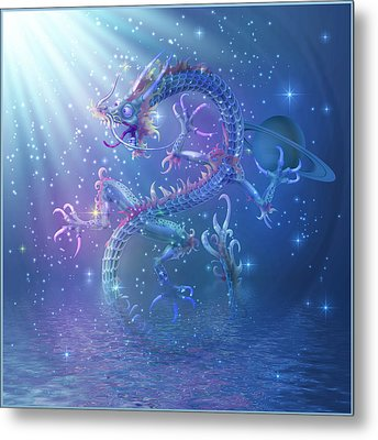 Water Dragon Metal Print