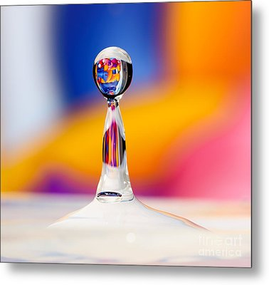 Water Drop Metal Print by Colin Rayner