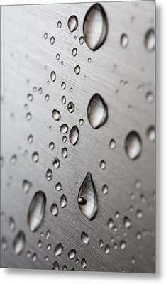 Water Drops Metal Print