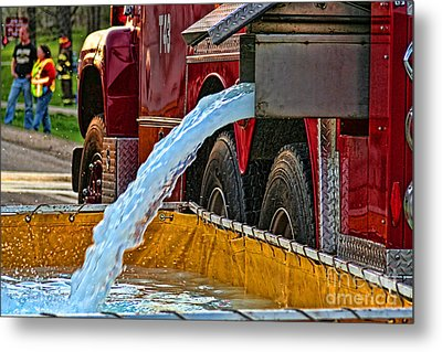 Water Dump Metal Print by Tommy Anderson