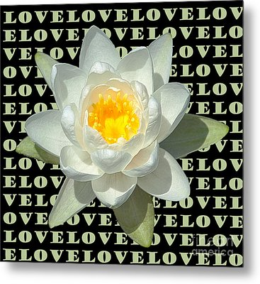 Water Lily Love Metal Print by Jeannette Hunt