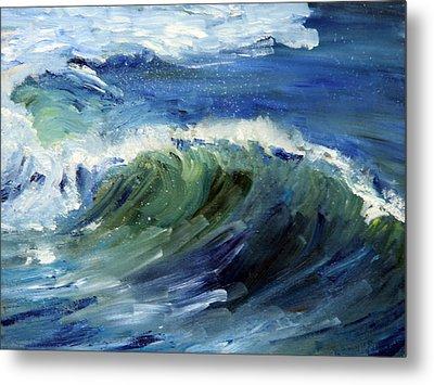 Wave Action Metal Print by Michael Helfen