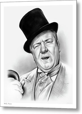 Wc Fields Metal Print by Greg Joens