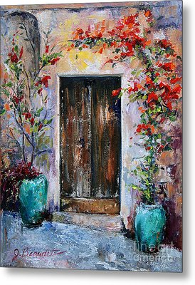 Metal Print featuring the painting Welcome by Jennifer Beaudet