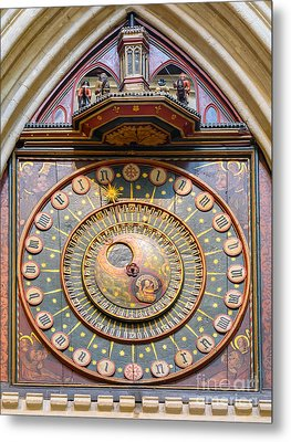 Wells Cathedral Clock Metal Print