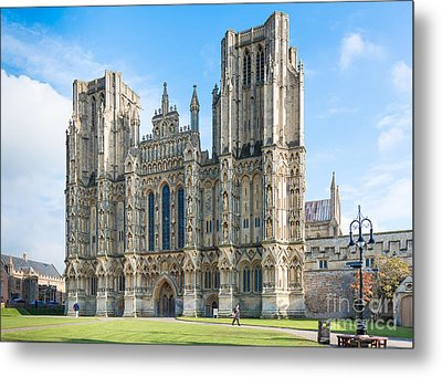 Metal Print featuring the photograph Wells Cathedral by Colin Rayner