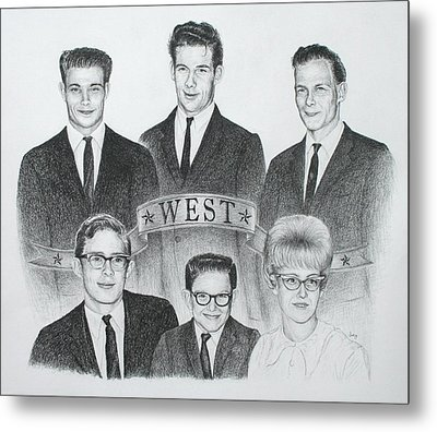 Metal Print featuring the drawing West by Mike Ivey