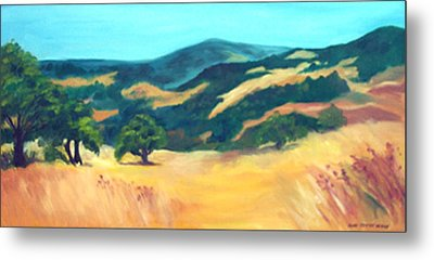Western Hills Metal Print by Anne Trotter Hodge
