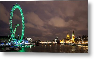 Westminster And The London Eye Metal Print by Dawn OConnor