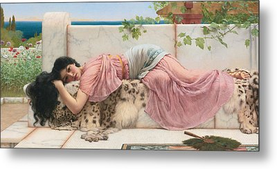 When The Heart Is Young Metal Print by John William Godward