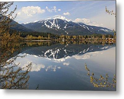 Whistler Blackcomb Green Lake Reflection Metal Print by Pierre Leclerc Photography