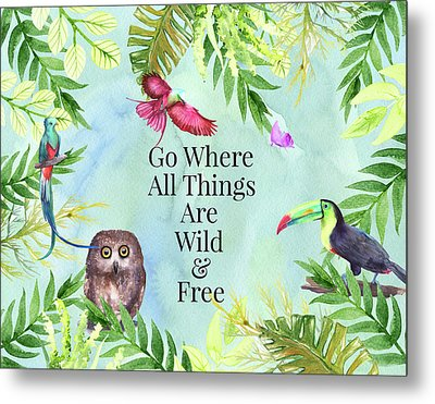 Metal Print featuring the digital art Wild And Free by Colleen Taylor