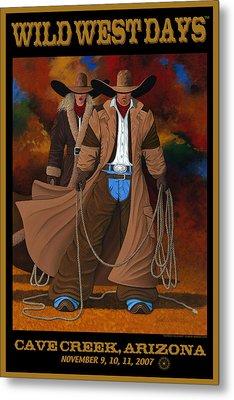 Wild West Days Poster/print  Metal Print by Lance Headlee