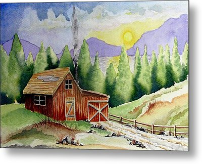 Wilderness Cabin Metal Print by Jimmy Smith