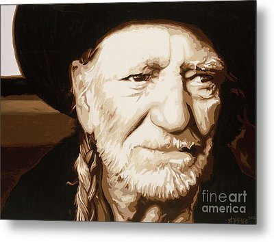 Willie Nelson Metal Print by Ashley Price