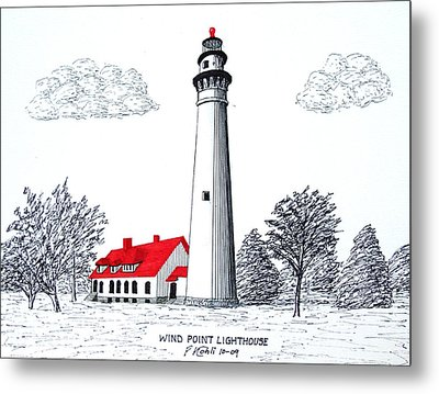 Wind Point Lighthouse Metal Print by Frederic Kohli