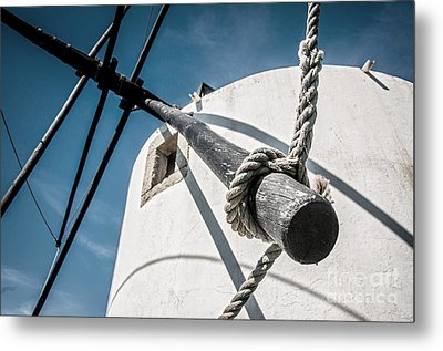 Windmill Metal Print by Carlos Caetano