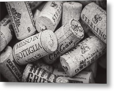 Metal Print featuring the photograph Wine Corks Black And White by April Reppucci