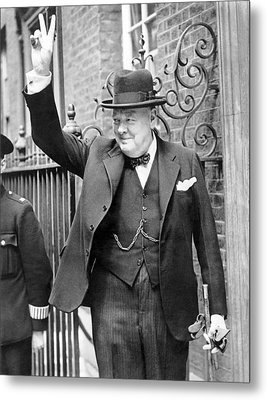 Winston Churchill Metal Print by English School