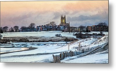 Metal Print featuring the photograph Winter Dusk by Robin-lee Vieira