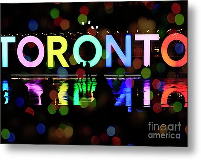 Metal Print featuring the photograph Winter Ice Skating In Toronto by Charline Xia