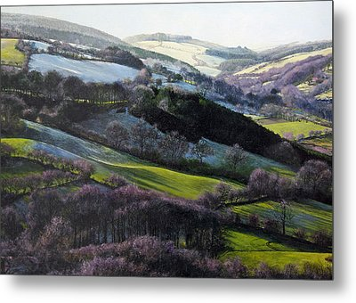 Winter In North Wales Metal Print