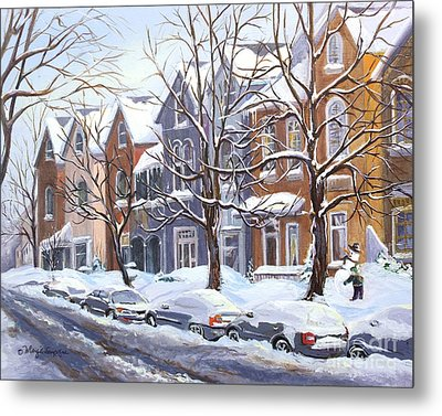 Winter In The City  Metal Print by Margit Sampogna