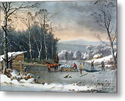 Winter In The Country Metal Print by George Durrie