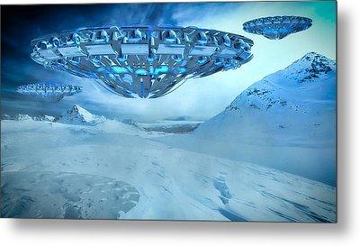 Winter Invasion By Raphael Terra Metal Print