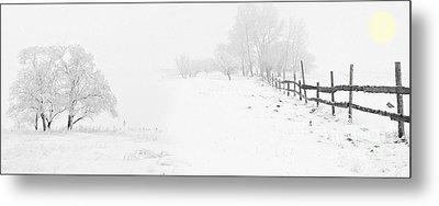 Winter Landscape - Let It Snow Metal Print by Celestial Images
