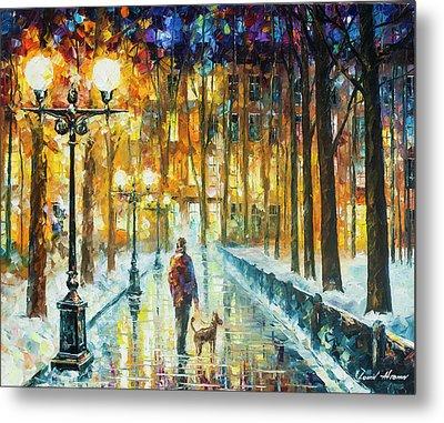 Winter Light  Metal Print by Leonid Afremov