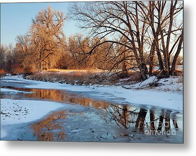 Winter River Metal Print by Marek Uliasz