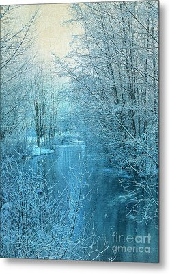 Winter River Metal Print by Svetlana Sewell