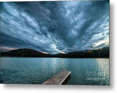 Metal Print featuring the photograph Winter Storm Clouds by Thomas R Fletcher