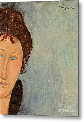 Woman With Blue Eyes Metal Print