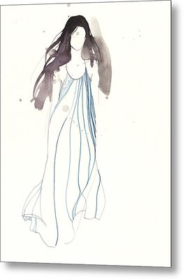 Woman With Dress From Chloe Metal Print