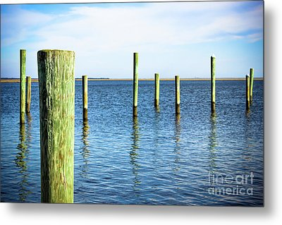 Metal Print featuring the photograph Wood Pilings by Colleen Kammerer