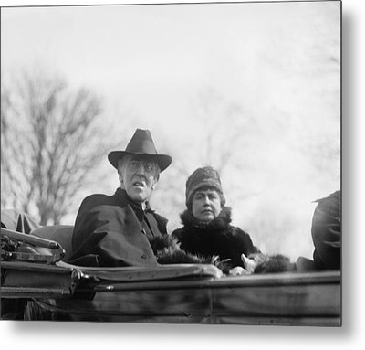 Woodrow Wilson 1856-1924 And His Second Metal Print