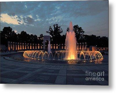 World War II Memorial Fountain Metal Print