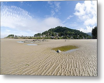 Yachats River At Low Tide Metal Print