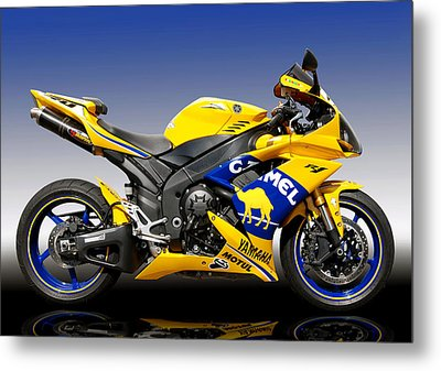 Yamaha R1 Metal Print by Carl Shellis