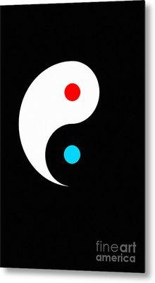 Yin And Yang Metal Print